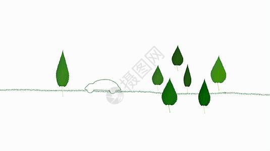 节能车环保背景图片