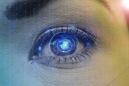 绚彩美丽的大眼睛图片