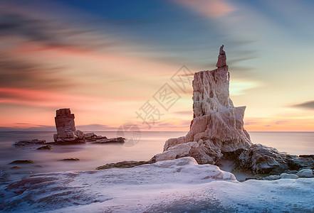 冰雪海景图片