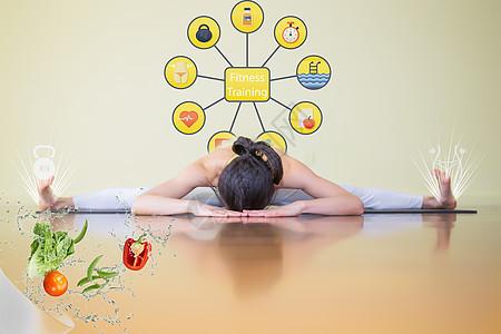 瑜伽健身瘦身美女图片
