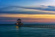 海边海景栈桥风光图片