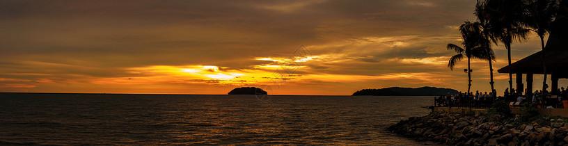 海边日落美景图片