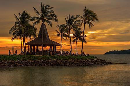 马来西亚卡帕莱岛日落美景图片