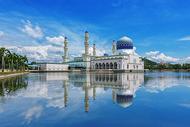 水上清真寺图片