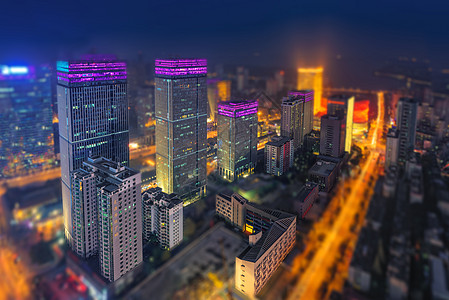 繁华城市夜景图片