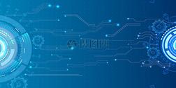 蓝色线条科技背景图片