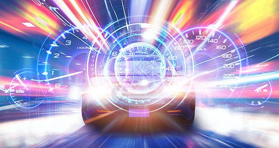 炫酷汽车抽象背景图片