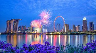 新加坡滨海湾烟火图片