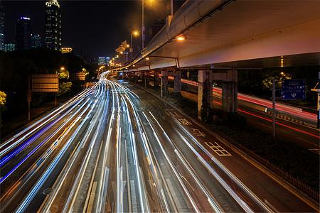 城市夜景车流图片