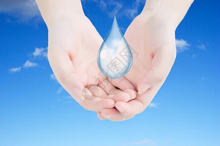 蓝色天空清新环保背景图片