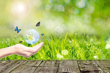 绿色商务环保背景图片
