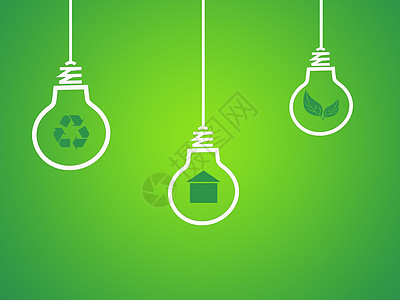 绿色光感商务节能环保背景图片