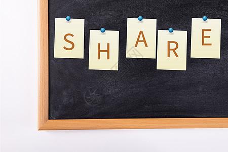 墙面钉有share图片