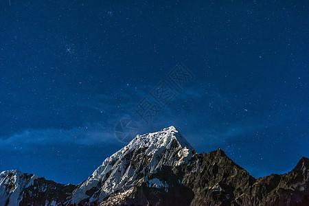 雪山星空图片