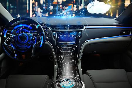 智能科技生活时代智能汽车内部图片