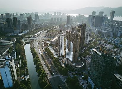 航拍城市高楼图片