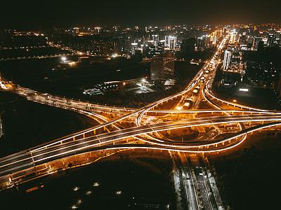 城市立交桥夜景图片