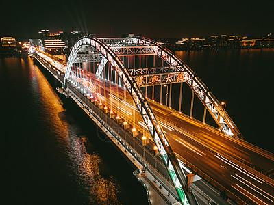城市桥梁夜景图片
