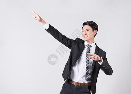 时尚商务男士业绩飙升手势图片