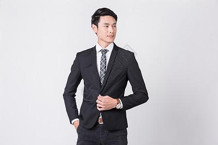 充满信心的时尚商务男士图片