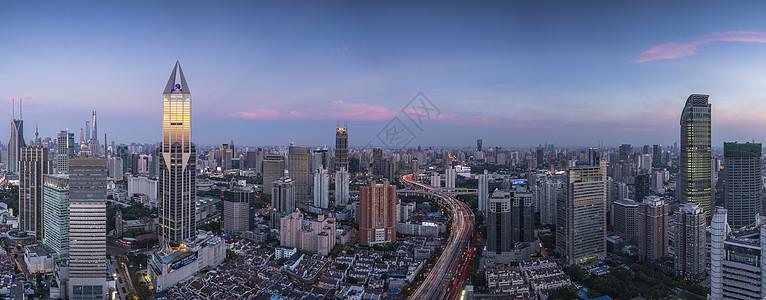 上海城市风光全景图图片