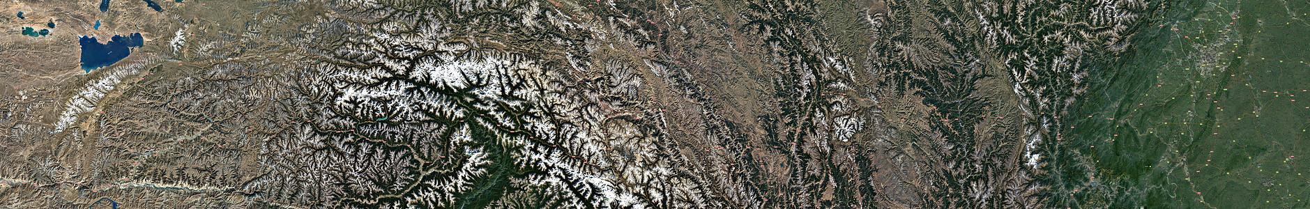 318国道高分辨率卫星地图(城都-拉萨)图片
