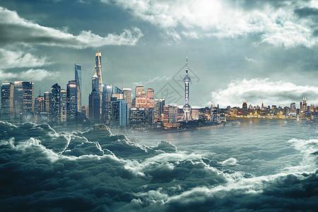 云中的芝加哥图片