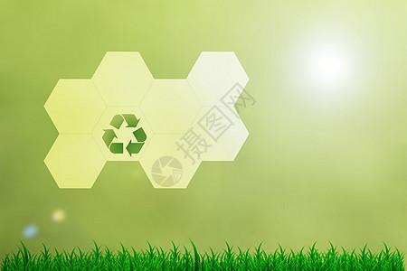 蜂窝标志环保背景图片
