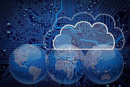 连接全球的云数据图片
