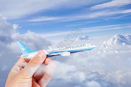 云端上的飞机图片