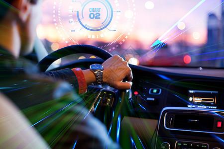 手握方向盘的男人正在开车图片