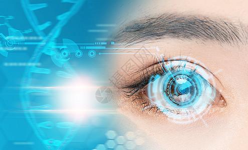 人类眼睛生命符号图片