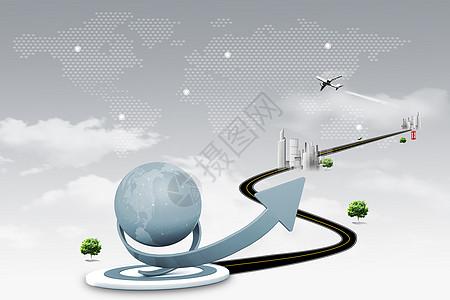 科技商务金融合成背景高清图片