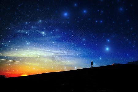沙漠里美丽的夜景图片