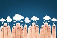 手指表情云图片