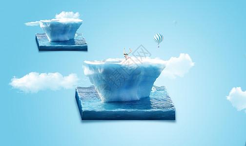 冰山上的驯鹿图片