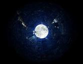 夜色下的扭曲世界图片