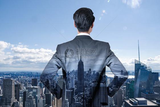 城市商务人士剪影图片