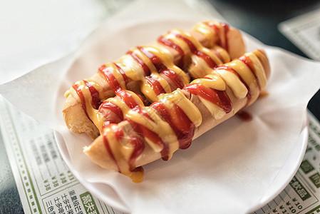 港式茶餐厅食物热狗图片
