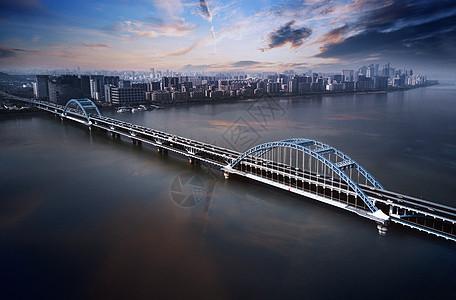 大桥与城市全景图片