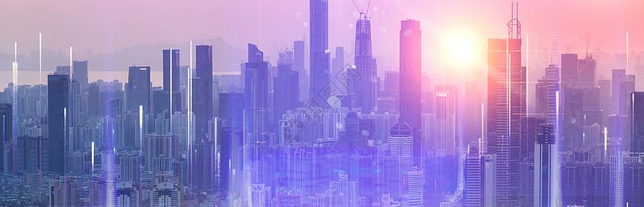 城市科技城市里的高楼大厦图片