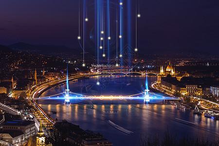 城市科技城市夜景灯光图片