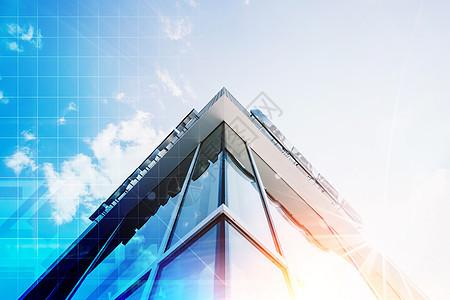 城市科技高楼大厦的一角图片