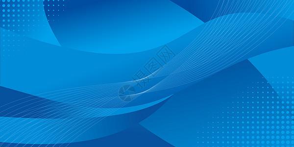 蓝色线条科技图片