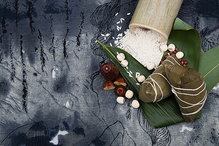 中国风端午节端午粽子拍摄图片