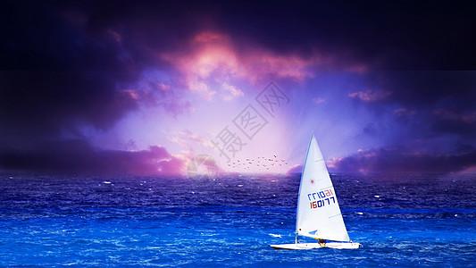 船帆与海图片