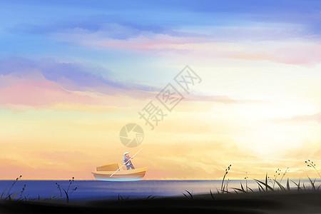 太阳与渔夫图片