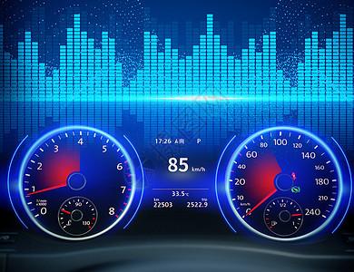汽车仪表盘图片