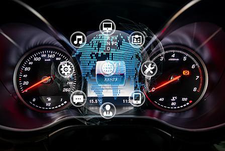 汽车的仪表盘科技图片