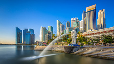 新加坡地标建筑鱼尾狮图片